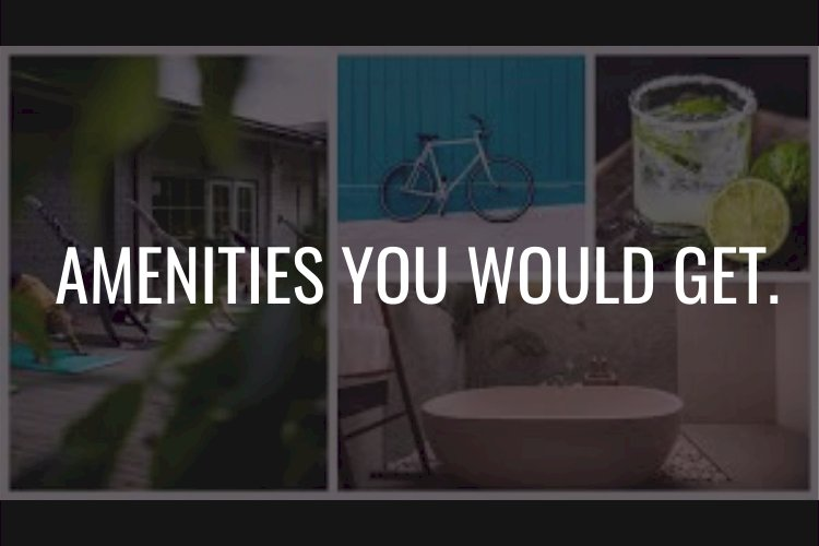 Amenities You Would Get.