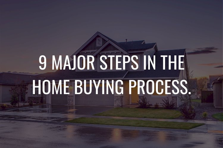 9 MAJOR STEPS IN THE HOME BUYING PROCESS.